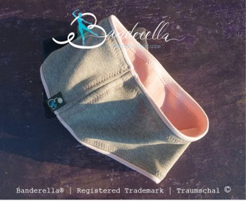 """Neue Farbkombination für Banderella Traumschal """"light"""": Hellgrau + Rosa"""