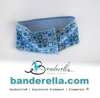"""Den Traumschal mit Prilblumen von Banderella gibt es auch für Kinder. Er ist hervorragend als """"Halssocke"""" geeignet."""