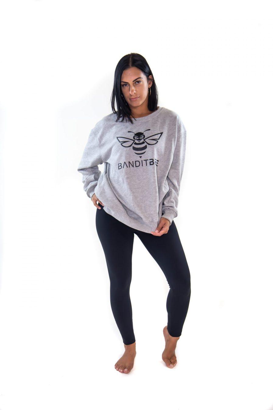 grey long sleeves women top