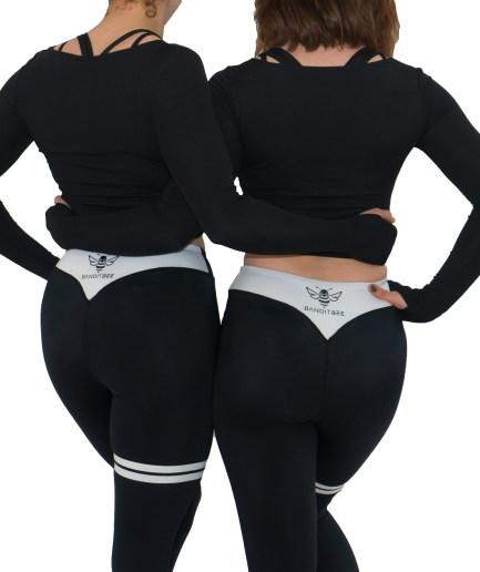 womens black fitness leggings