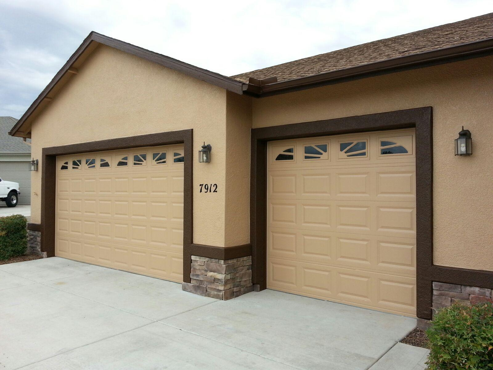 garage door painted in prescott