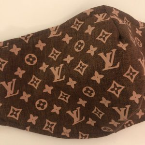 LV Designer Inspired Face Mask