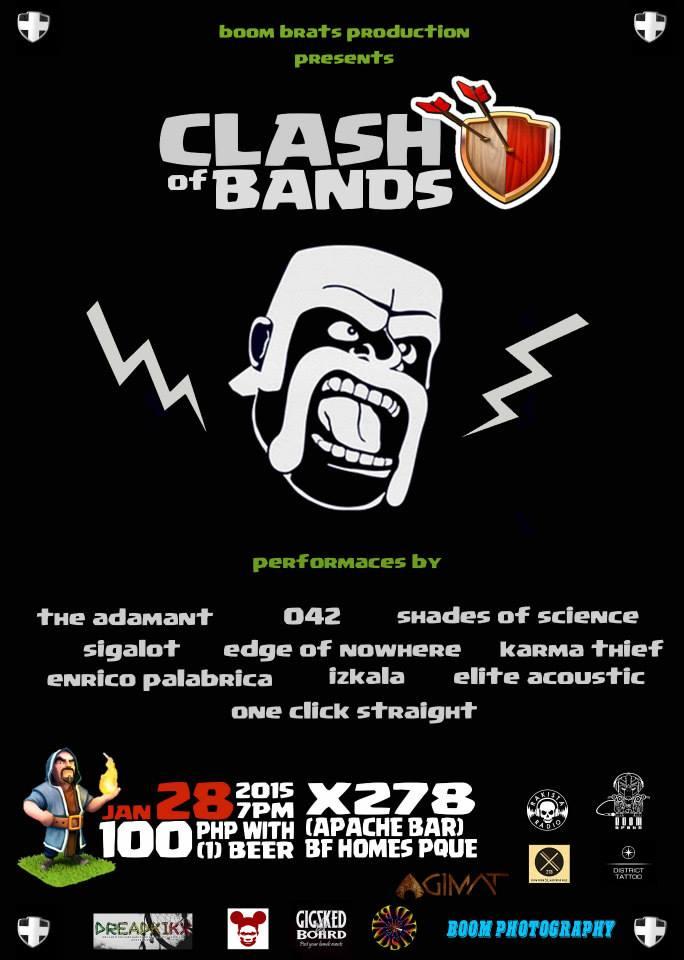 Boom Brats Clash of Bands jan.28 X278