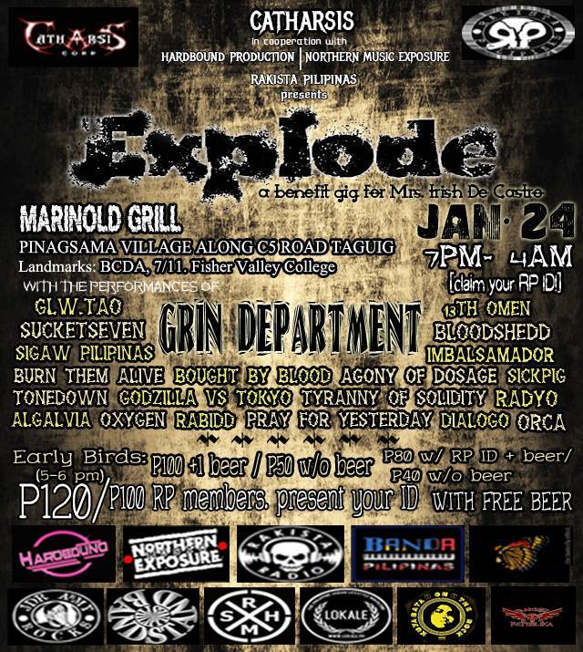 Catharsis Corp Prod - Explode x Benefit gig for Ms Irish Mae De Castro - Marinold Grill
