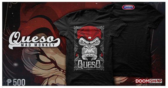 Queso Mad Monkey Shirt at The Doom Shop!