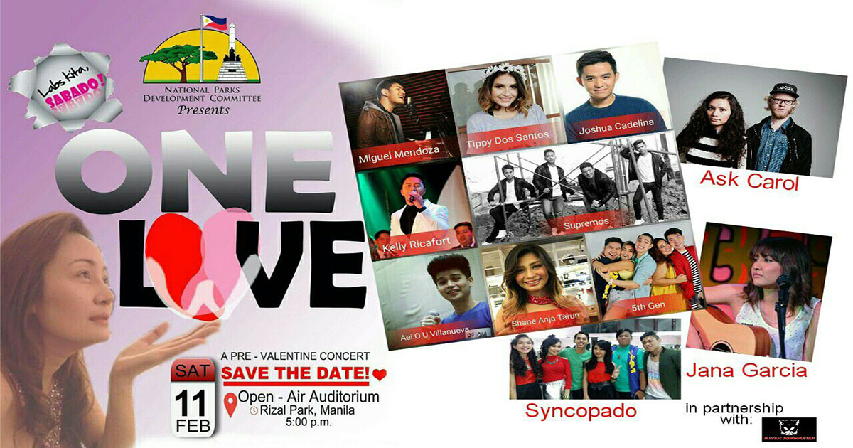 """ONE LOVE"" A Pre-Valentine Concert"