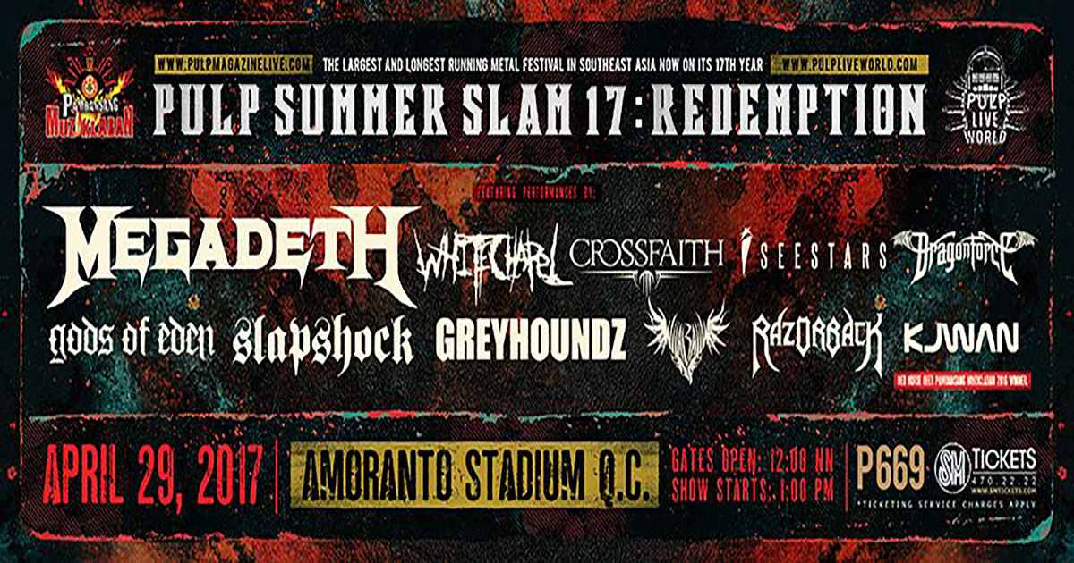 8327f10e43fe PULP Summer SLAM 17   Redemption « BANDSTAND.PH »