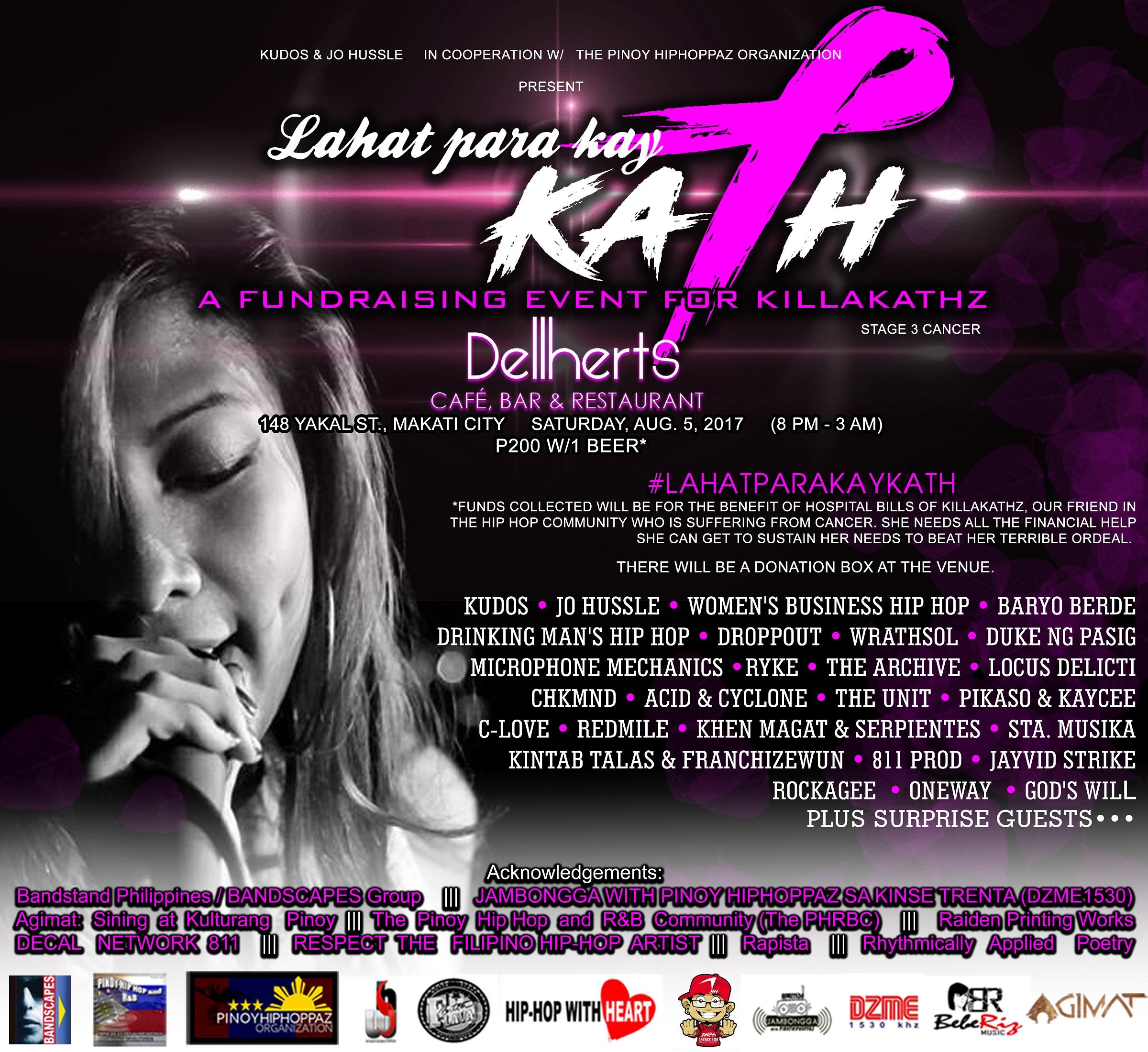 Lahat Para Kay Kath: A Fundraising Event for Killakathz