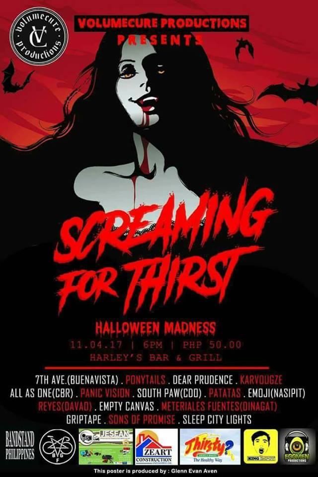 Volumecure Productions Presents: SCREAMING FOR THIRST