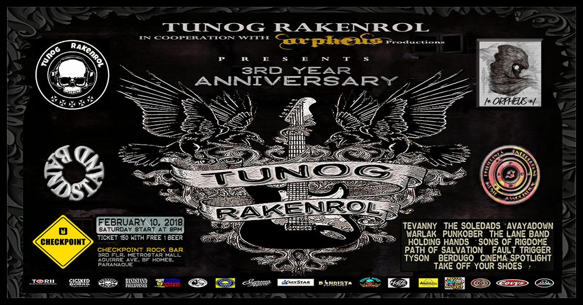 TUNOG RAKENROL 3rd Year Anniversary