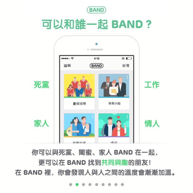 BAND 是什麼? – BAND – 為【團體】而生