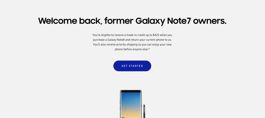 Note 7 Note 8 trade