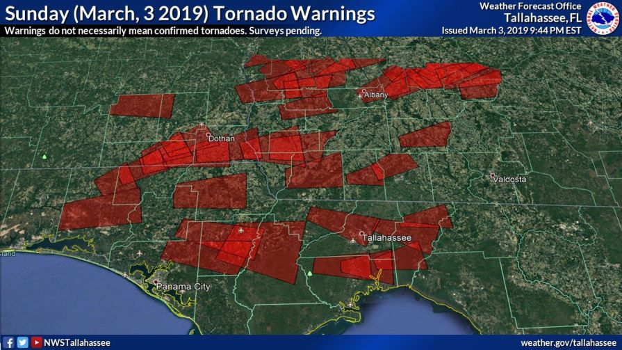 Alabama and Georgia March 3 tornadoes