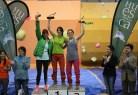 Competición de Escalda en Bloque_Podium femenino (de izquierda a derecha) - Cristina Rocabert (3), Rebeca Pérez (1), Francis Katiuska Guillén (2)