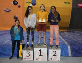Laura Pellicer (4), Carlota Martínez (3), María Laborda (1) y Mónica Bermejo (2)