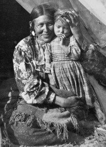 A First Nations Mother and Daughter from the Canadian Rockies and Banff National Park