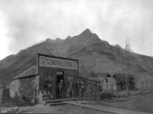 Banff Avenue, Banff, Alberta, Canada - a long time ago.