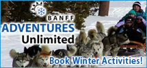 Book your winter activities in the Canadian Rockies with Banff Travel!