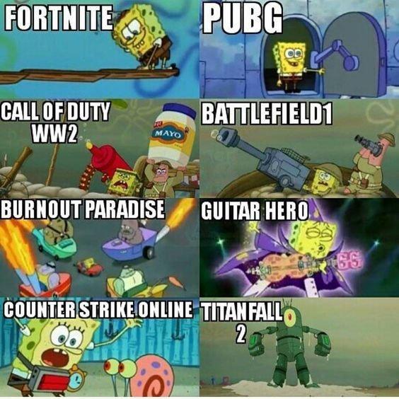Game Vs Spongebob Fortnite