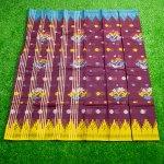 Tangailer half Silk Monipuri Patarn Sharee 22