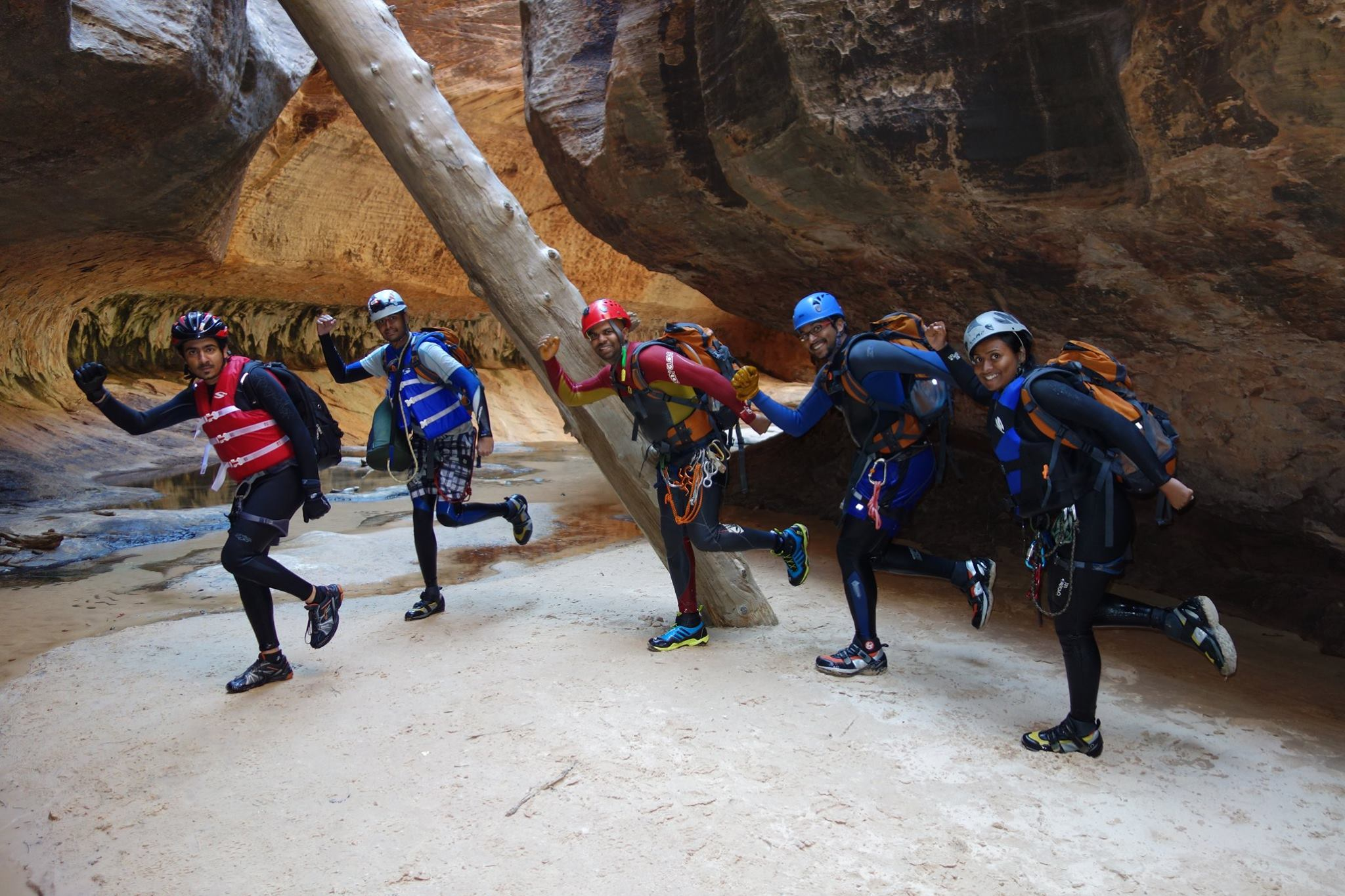 Subway Canyon - Canyoneer Pose - Bangalore Adventure School