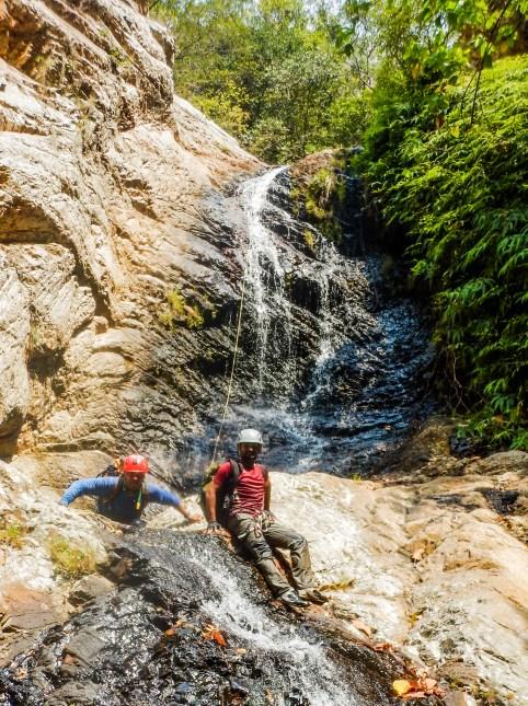 Nagalapuram rappelling the 5th Waterfall