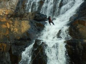 Vijay Nandani - Rappelling down Kanthanpara falls, Wayanad, Kerala