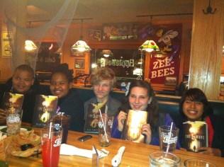 We met at Applebee's for one year