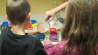 Making homemade soap