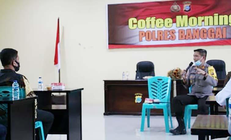 Gelar 'Coffee Morning', Kapolres dan Gakkumdu Banggai Diskusi Bahas Pilkada Serentak