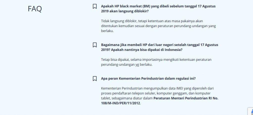 IMEI Tidak Terdaftar di Kemenperin