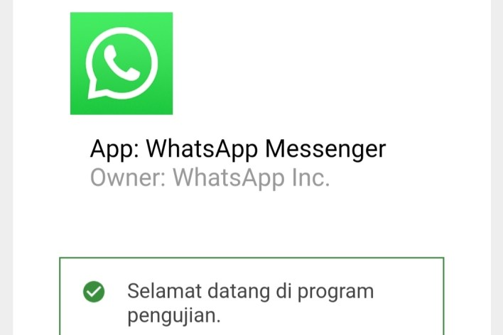 Daftar Whatsapp Beta Tester