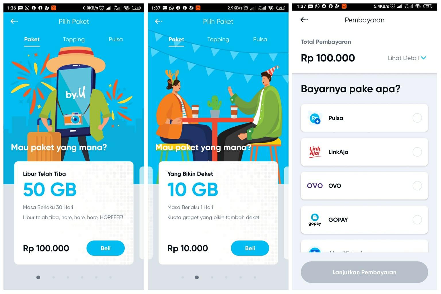 Provider By U Hadirkan Paket Internet 50gb Dengan Harga 100 Ribu Sebulan Banghape