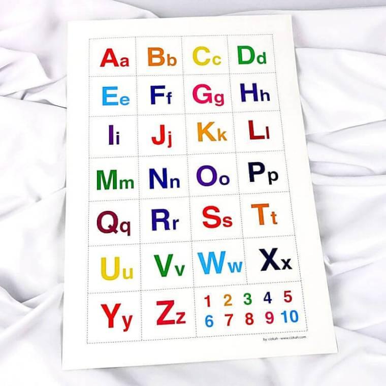 belajar mengenal huruf abjad kapital untuk anak