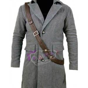 Get Bloodborne Game The Hunter Grey Wool Rain Coat
