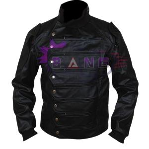 Buy Bucky Barnes Winter Soldier Captain America Black Leather Strap Jacket