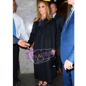 Buy Jennifer Lopez Womens Black Wool Winter Coat