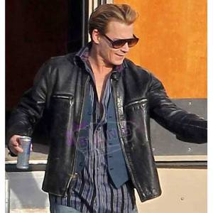 Buy Charles Mortdecai Johnny Depp Mens Black Real Cowhide Leather Jacket