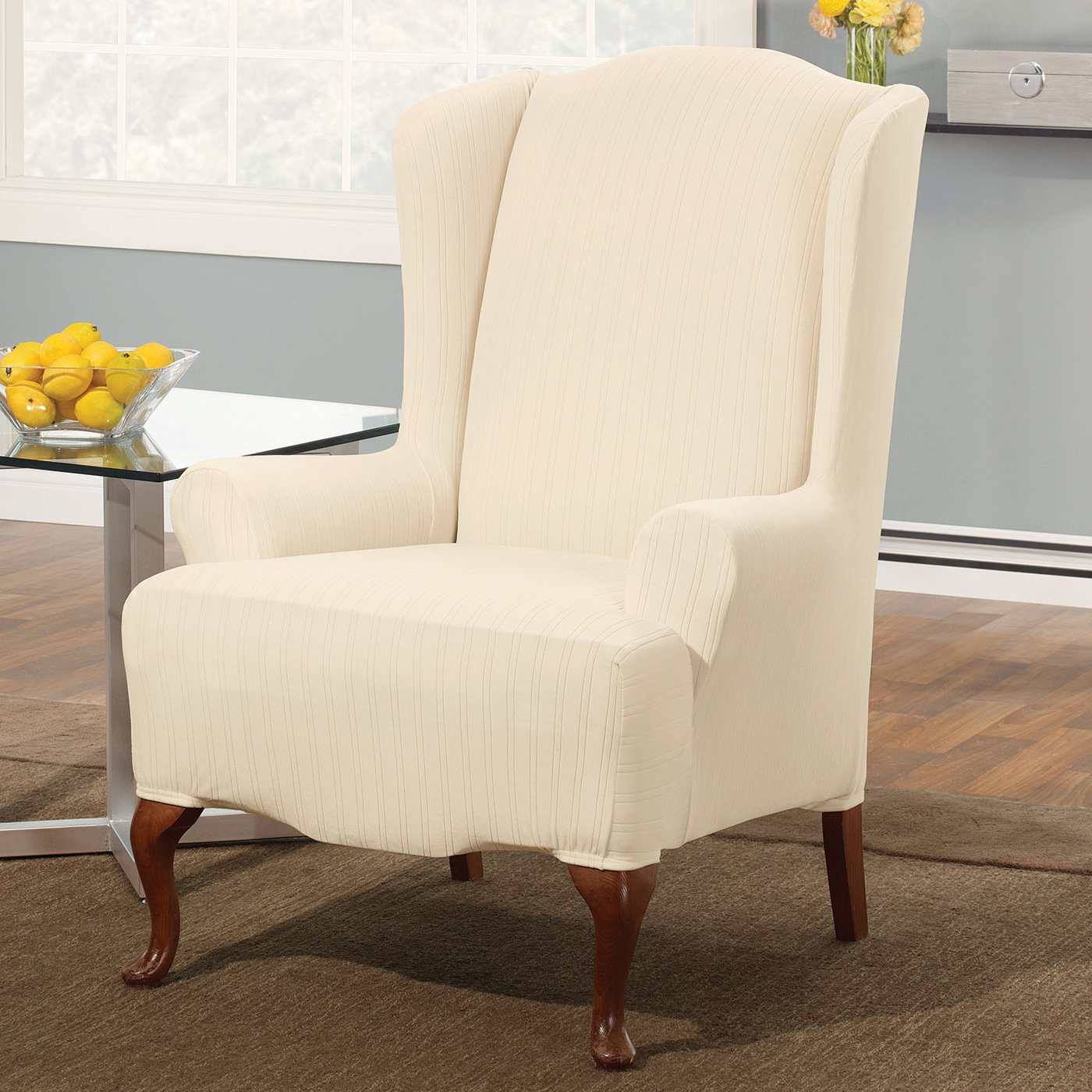 Sure Fit Wing Chair Covers Bangkokfoodietour Com