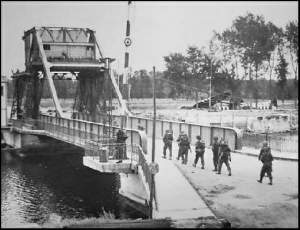 Pegasus Bridge on the morning of D Day