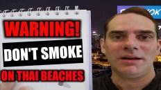 Smoking on Thai beaches
