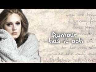 Rumour Has It Full Song Lyrics - 21 Album By Adele