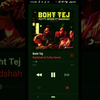 Boht Tej Lyrics Song - Badshah - Fotty Seven
