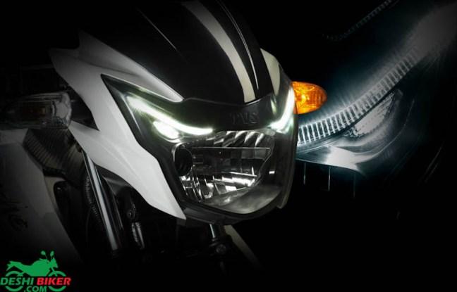Apache RTR 150 headlight