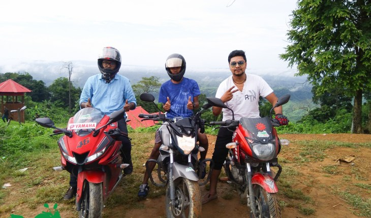 Deshi Biker at Sajek Valley