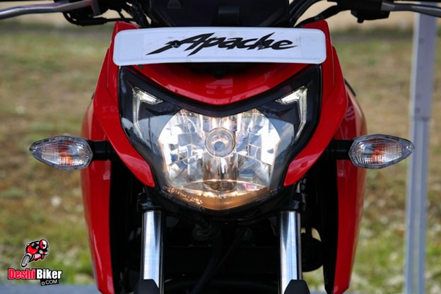 RTR 160 4V headlight