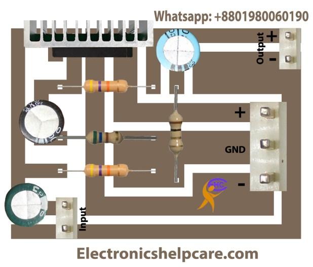 TDA2050 mono circuit diagram