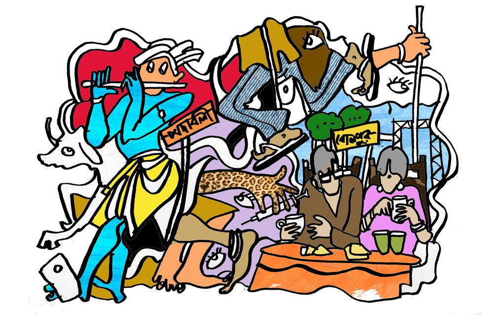 বসন্ত শুভ্রনীল spring illustration