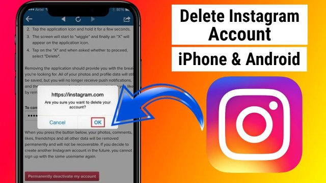 How to Delete Instagram Account on iPhone 17 - Bangla Master