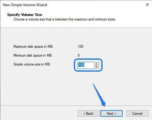 Set new partition size